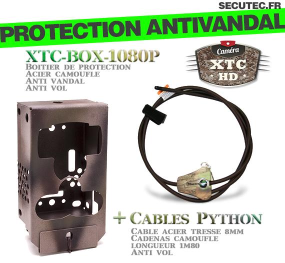 Un descriptif de la Box Anti-vandale avec câble python