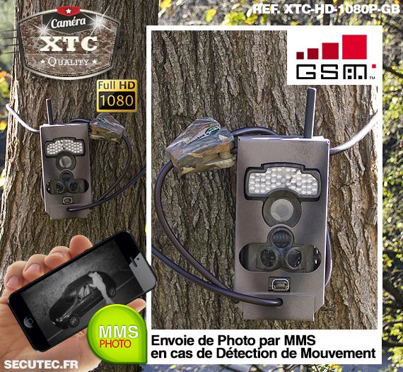 La fixation de la caméra XTC-HD-1080-GB