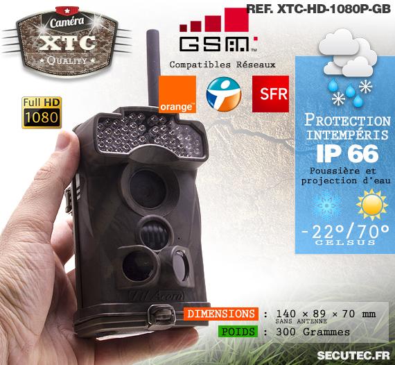 Le réseau 3G de la caméra XTC-HD-1080-GB