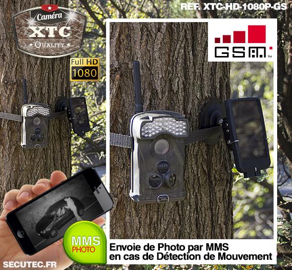 La fixation de la caméra XTC-HD-1080-GS