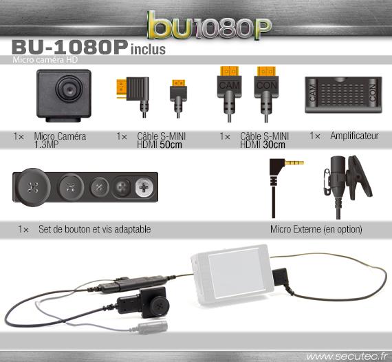 Les accessoires de la micro caméra CMD-BU20