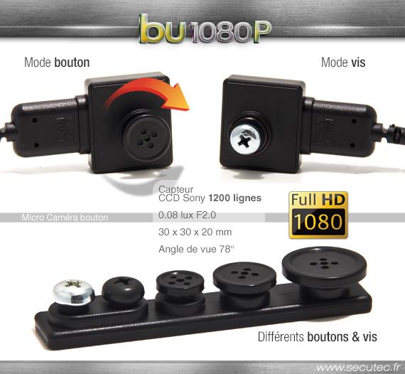 Les différents objectifs de la micro caméra CMD-BU20