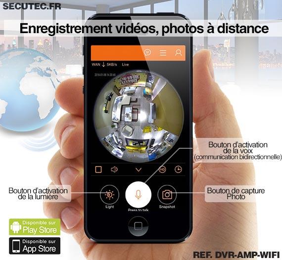 Caméra ampoule WiFi HD panoramique 360° avec détection de mouvement