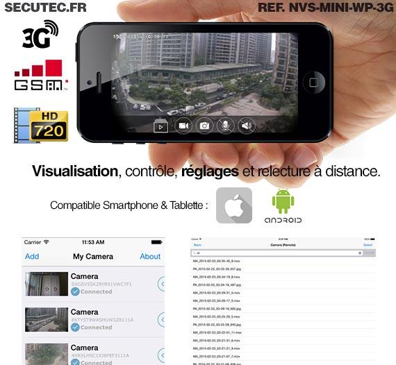 Visualisation depuis un smartphone iphone