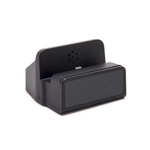 Dock de recharge fonctionnelle pour smartphone Android avec module caméra HD 1080P et enregistreur sur carte micro SDHC (carte