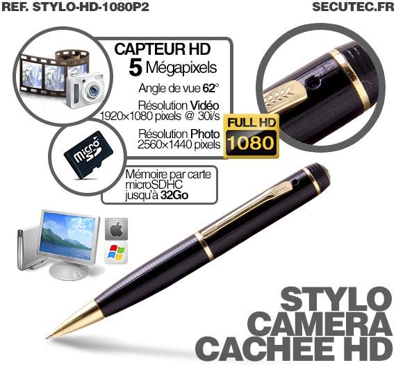 fonctionnement caméra cachee stylo