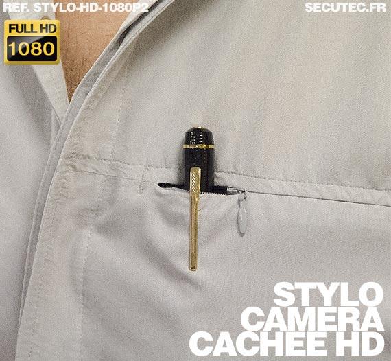 caméra cachée stylo porté