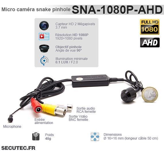 SNA-1080P-AHD - Caractéristiques