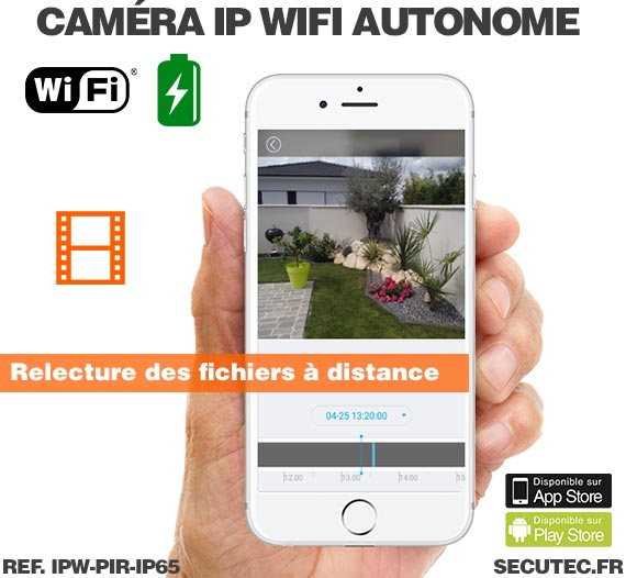 Mini caméra WiFi waterproof longue autonomie avec détecteur de présence PIR et vision nocturne