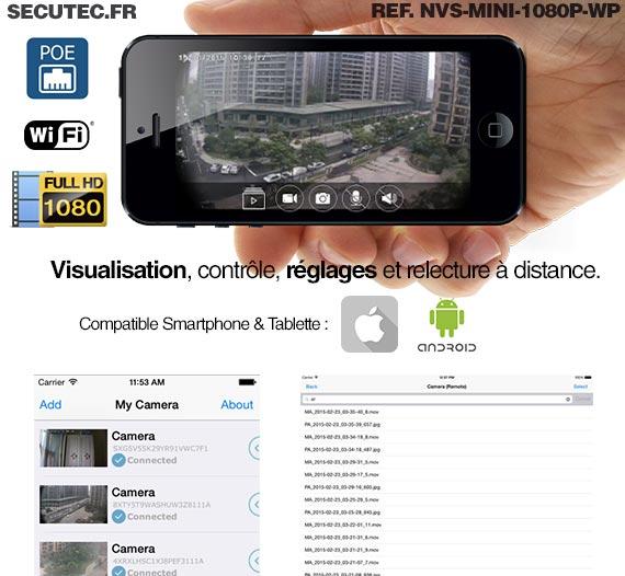 Micro caméra Waterproof WiFi HD 1080P et SDHC avec détection et accès smartphone