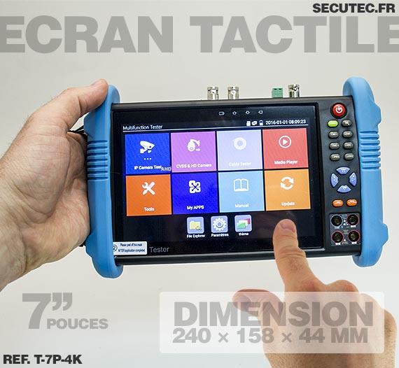 Testeur et scanner de caméra 4K max avec écran tactile 7pouces