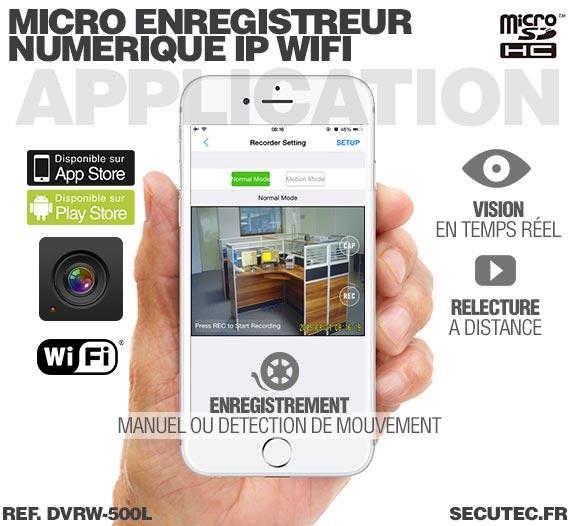 Application Android Micro enregistreur portable numérique IP Wifi professionnel