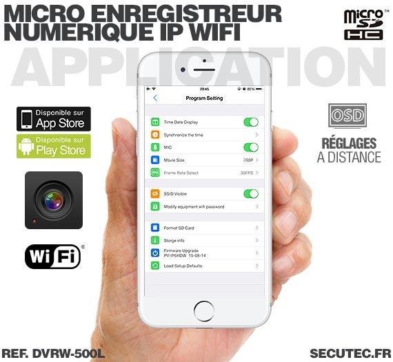 Application iOS Micro enregistreur portable numérique IP Wifi professionnel