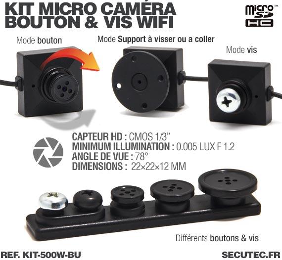 Caméra bouton et vis