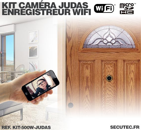 Installation Kit camera cachée judas avec micro enregistreur IP WiFi