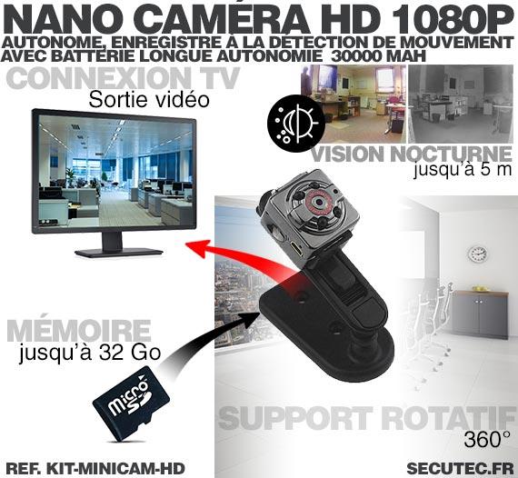 Kit mini caméra HD 1080P connexion