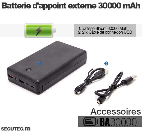 Kit mini caméra HD 1080P accessoires batterie