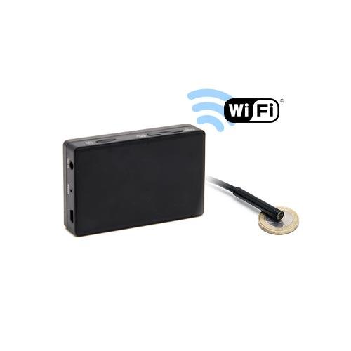 Kit micro caméra d'inspection avec micro enregistreur IP WiFi sur carte microSD
