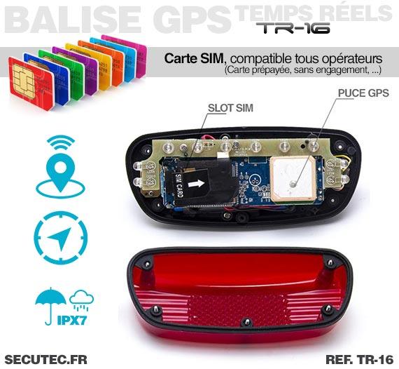 Balise GPS / GSM longue autonomie vélo carte SIM