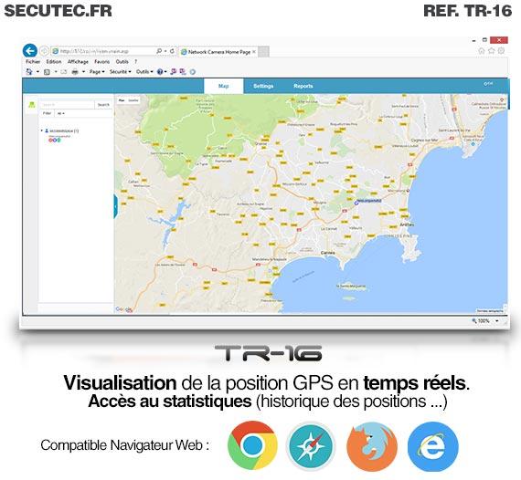 Balise GPS / GSM longue autonomie vélo navigateur web