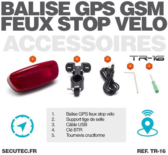 Balise GPS / GSM longue autonomie vélo accessoires