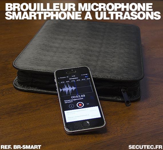 iPhone et Brouilleur de microphone à ultrasons portable autonome