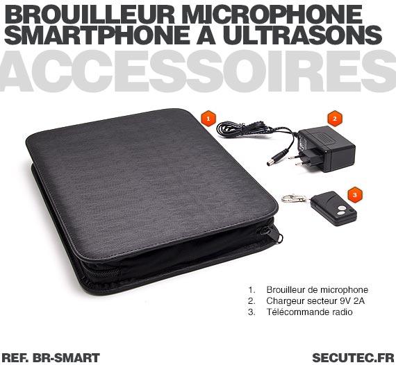 Accessoires Brouilleur de microphone à ultrasons portable autonome