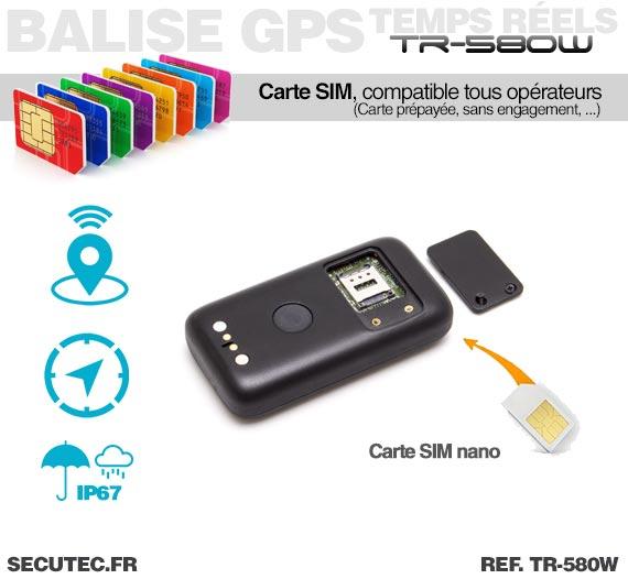 Micro Balise GPS / GSM / WiFi autonome - Carte SIM