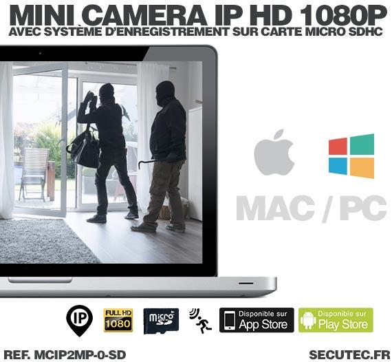 Mini caméra IP HD 1080P capteur 2MP