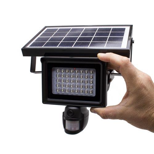 Projecteur LED solaire autonome avec micro caméra HD