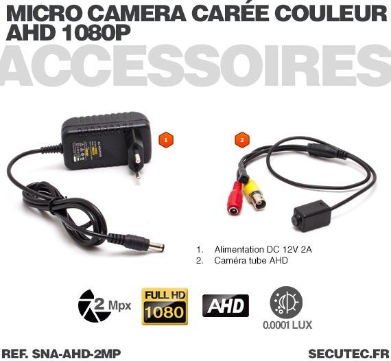 Micro caméra hybride 2 Mpx AHD 1080P Analogique ultra basse luminosité