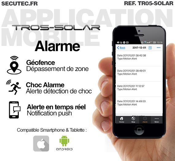 application balise gps solaire
