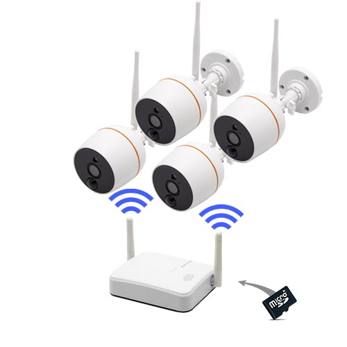 Kit 4 caméras Wi-Fi HD...