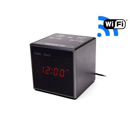Horloge radio réveil enceinte Bluetooth caméra cachée Wi-Fi HD 720P, infrarouge invisible, détection de mouvement
