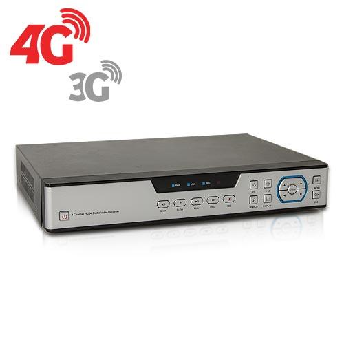 Enregistreur de vidéosurveillance 3G/4G hybride 8/16 voies IP / AHD 1080P avec 1 To