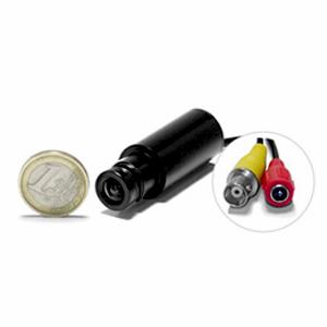 Micro caméra tube CCD N/B 600 lignes avec micro objectif
