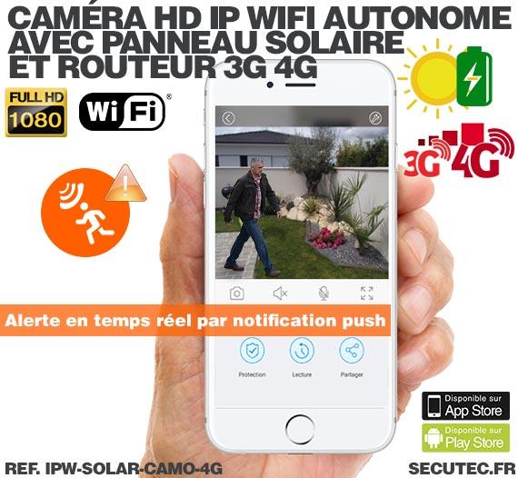 Caméra camouflage solaire 3G 4G IP Wi-Fi extérieure HD 1080P