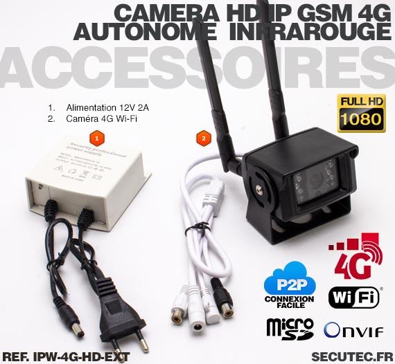 Caméra IP Wi-Fi GSM 4G HD 1080P