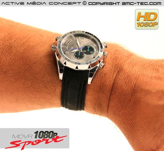 Montre sport waterproof caméra audio vidéo HD 1080p 32Go avec infrarouge invisible