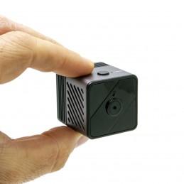 Micro caméra WiFi P2P HD 1080P longue autonomie avec détection de mouvement PIR et vision nocturne invisible 64 Go