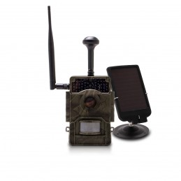 Caméra de chasse solaire HD 1080P IR invisible GPS GSM 4G alerte push photo et vidéo sur app iOS et Android serveur cloud