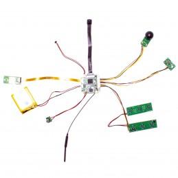 Micro caméra WiFi P2P HD 1080P à intégrer avec IR invisible détecteur de mouvement  sur carte microSD 128 Go
