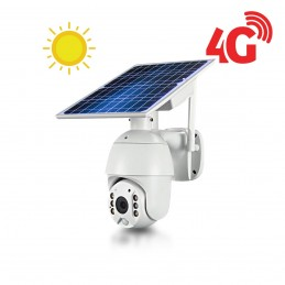 Caméra pilotable solaire IP GSM 4G HD 1080P waterproof Infrarouge accès à distance via iPhone Android 64 Go inclus