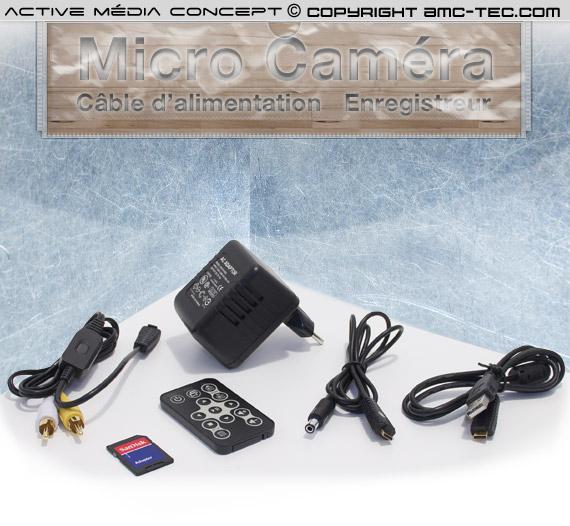 micro caméra couleur 2.8 mm avec detection de mouvement