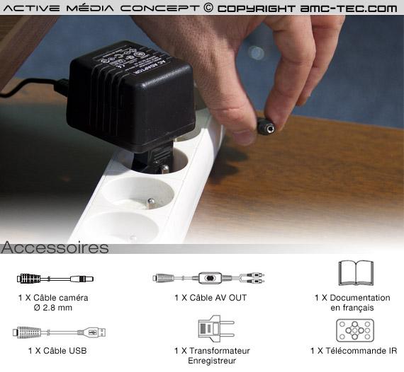 jack micro caméra couleur avec detection de mouvement